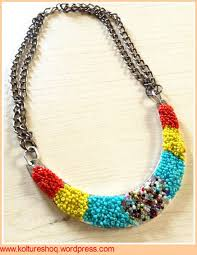 make necklace with beads images Diy seed beads metal necklace by koltureshoq project jewelry jpg
