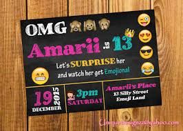 emoji birthday invitation by uniquedesignzzz on etsy emoji event