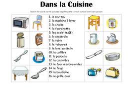 dans la cuisine dans la cuisine picture match by miriamw4ll teaching resources tes