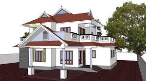 kerala home desig n 3 traditional elevation modern sloped roof