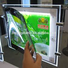 advertising led light box acrylic window display supplies light