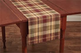 country saffron plaid table runner 13x54