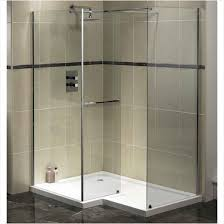 modern bathroom shower tile ideas above shiny white marble floor