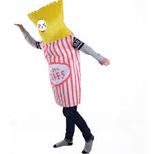 french fries halloween costume food fun fancy dress golden fries potato chips french fries mascot
