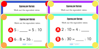 ratio and proportion word problems five pack math worksheets 100