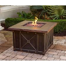 Patio Tables With Fire Pit Coffee Tables Attractive Black Round Ancient Carved Metal Coffee