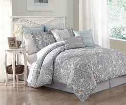 Blue And White Comforters Light Blue And White Bedding Piece Queen Luxe Cotton Comforter Set