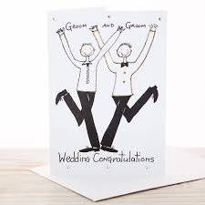 Groom And Groom Wedding Card Handmade Personalised Civil Ceremony Wedding Card By All Things