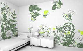 cute kids room design with blue eco friendly mushroom vinyl wall cute kids room design with blue eco friendly mushroom vinyl wall stickers for captivating insect themes decals kid rooms single bed and white lacquer finish