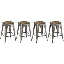 Modern Wood Bar Stool Amazon Com Btexpert 24 Inch Industrial Metal Vintage Antique