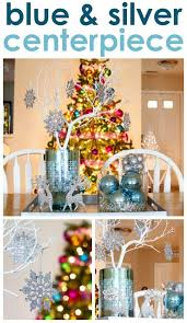 Blue And Silver Christmas Decorations Pinterest by 16 Best Blue And Silver Holiday Decorating Images On Pinterest