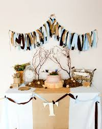 Baby Blue And Brown Baby Shower Decorations Blue Brown And Burlap Fabric Scrap Garland For Rustic Baby Shower