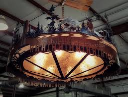 Big Iron Chandelier Hartcrafters Custom Metal Art
