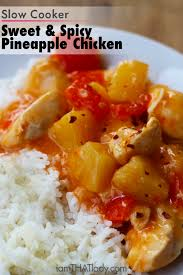pineapple sweet u0026 spicy pineapple chicken lauren greutman