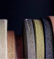 metallic ribbon metallic weave cotton ribbon angela liguori