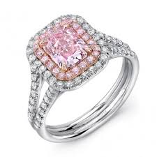 pink diamond engagement rings engagement rings