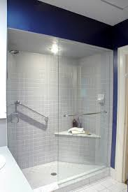 shower bench bathroom contemporary with double shower heads