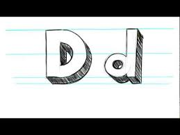 how to draw 3d letters a uppercase a and lowercase a in 90 seconds