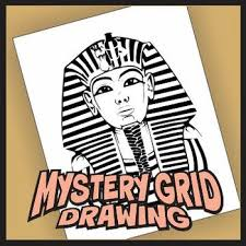 mystery grid drawing king tut project by outside the lines