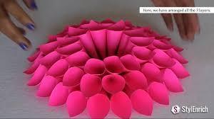 diy room decor with amazing dahlia flower diy crafts home