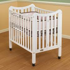 Best Mini Cribs Orbelle Tian Three Level Portable Crib White Walmart