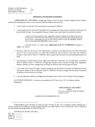 waiver of rights affidavit document