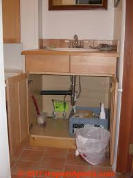 sink kitchen cabinet base repair mold contaminated kitchen or bathroom cabinets