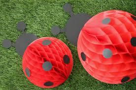 diy honeycomb ladybugs for a little lady u0027s birthday evite