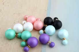 top earing 2016 trending design top plastic pearls