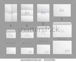 blank template white paper envelope empty stock vector 551223424