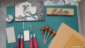 linda cote printmaking supplies lino carving tools youtube