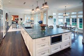 clear glass pendant lights for kitchen island striking large kitchen islands with breakfast bar and black
