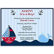 nautical baby shower invitations nautical baby shower invitations anchors away