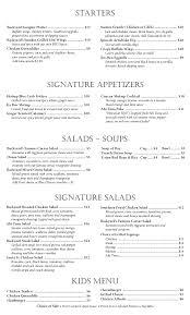 backyard restaurant menu outdoor furniture design and ideas