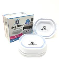 How To Make A Bed Bug Trap Amazon Com Bug Slayer Bed Bug Trap 4 Pack In White Bed Leg