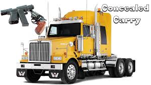semi truck companies trucking can truck drivers carry guns youtube