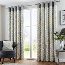 Lined Grey Curtains Copeland Eyelet Curtains In Duck Egg Free Uk Delivery Terrys