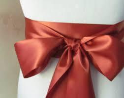 sash ribbon rust satin ribbon rust ribbon brown bridal sash brown ribbon rust