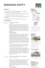 operations manager resume samples visualcv resume samples database