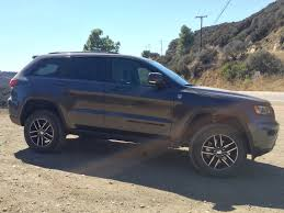 jeep grey blue review grand cherokee trailhawk is the plush way to off road a jeep