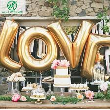 s day decoration aliexpress buy 16 gold silver helium foil ballons