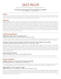 the bureau production company jules miller production resume