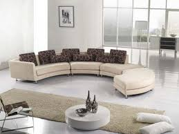Small Curved Sectional Sofa by Classic Curved Three Seat Brown Leather Sectional Sofa With Brown