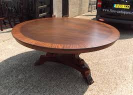 antique round dining table antique furniture warehouse huge round antique dining table 6ft