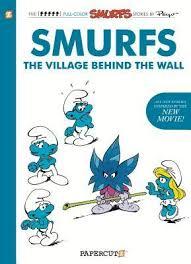 smurfs village wall peyo