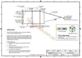 electrical trailer wiring trailer plans www trailerplans com au
