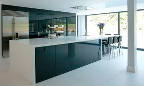 Contemporary Kitchen Furniture Contemporary Kitchen Wooden Island Lacquered Dulwich