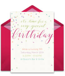 birthday party invitations free birthday online invitations punchbowl