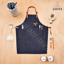 tablier cuisine femme tablier en denim bleu foncé no k2 tablier chic et 100 coton unifs