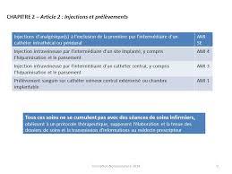 cotation perfusion sur chambre implantable gérant et infirmier conseil formateur nomenclature ppt télécharger
